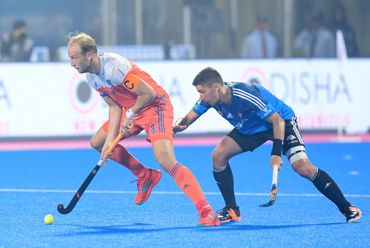 The Netherlands and Argentina played out an entertaining 3-3 draw ©FIH