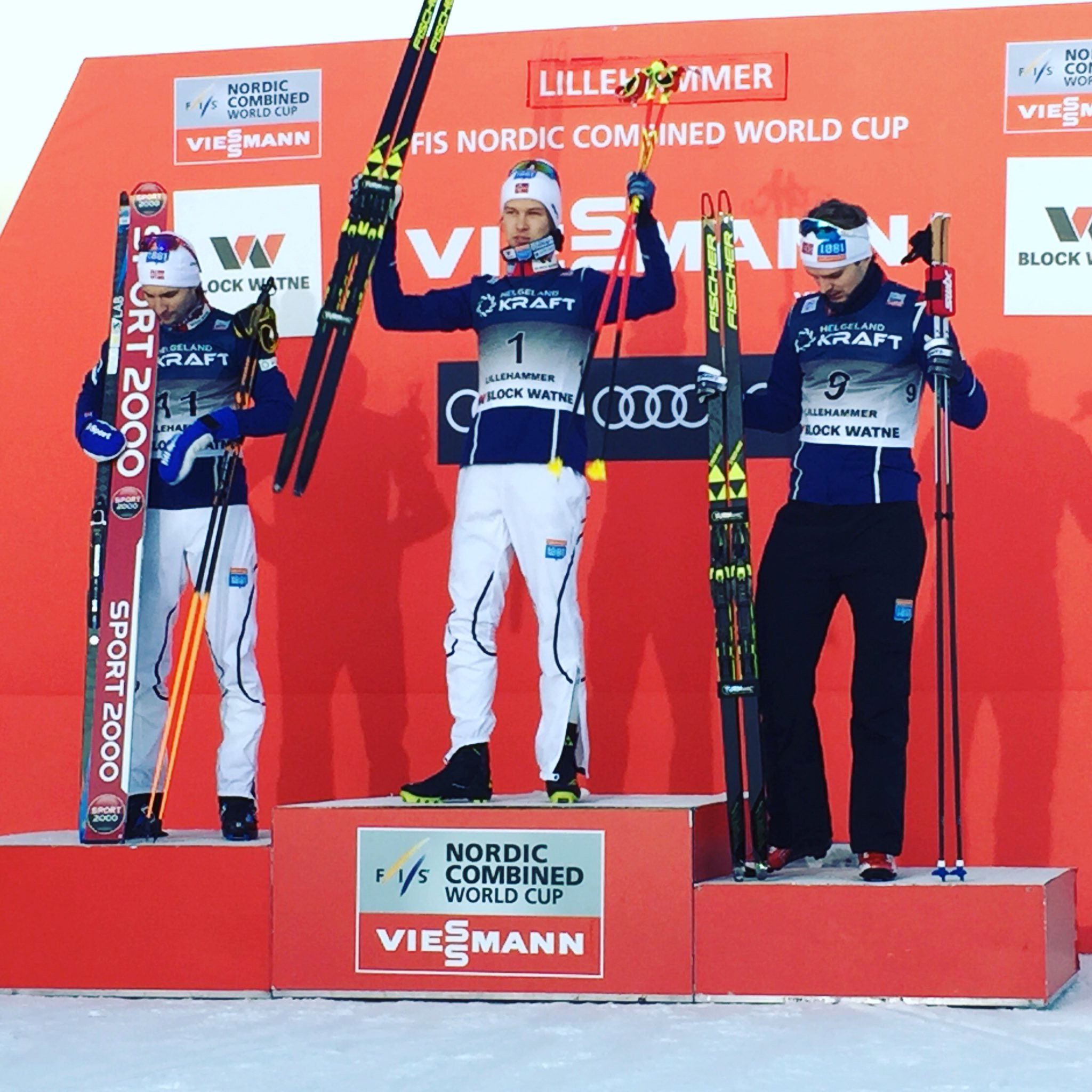Norwegian trio sweep the boards at FIS Nordic Combined World Cup in Lillehammer