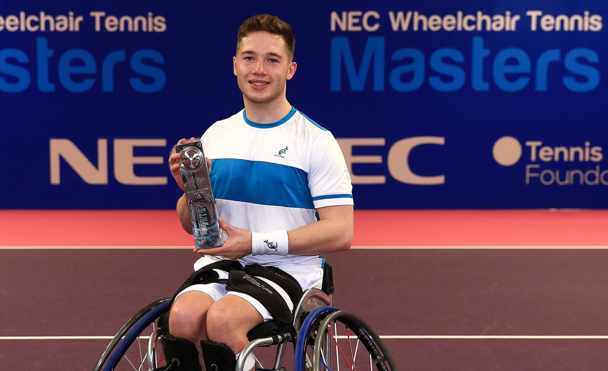 Alfie Hewett became the first British winner of the men's singles title ©Twitter