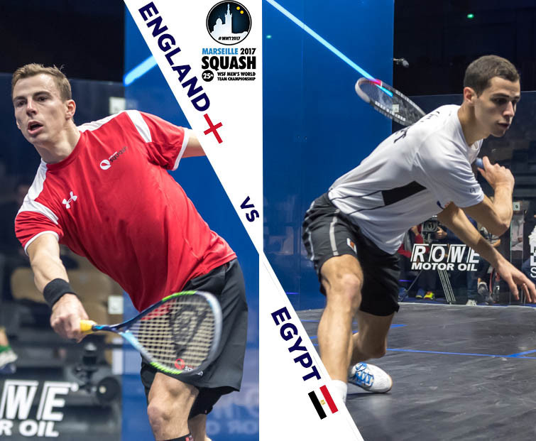 Egypt beat England with ease in the WSF Men's World Team Championships in Marseille ©WSF