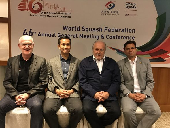 Jacques Fontaine, third from left, was elected as WSF President in November 2016 ©WSF