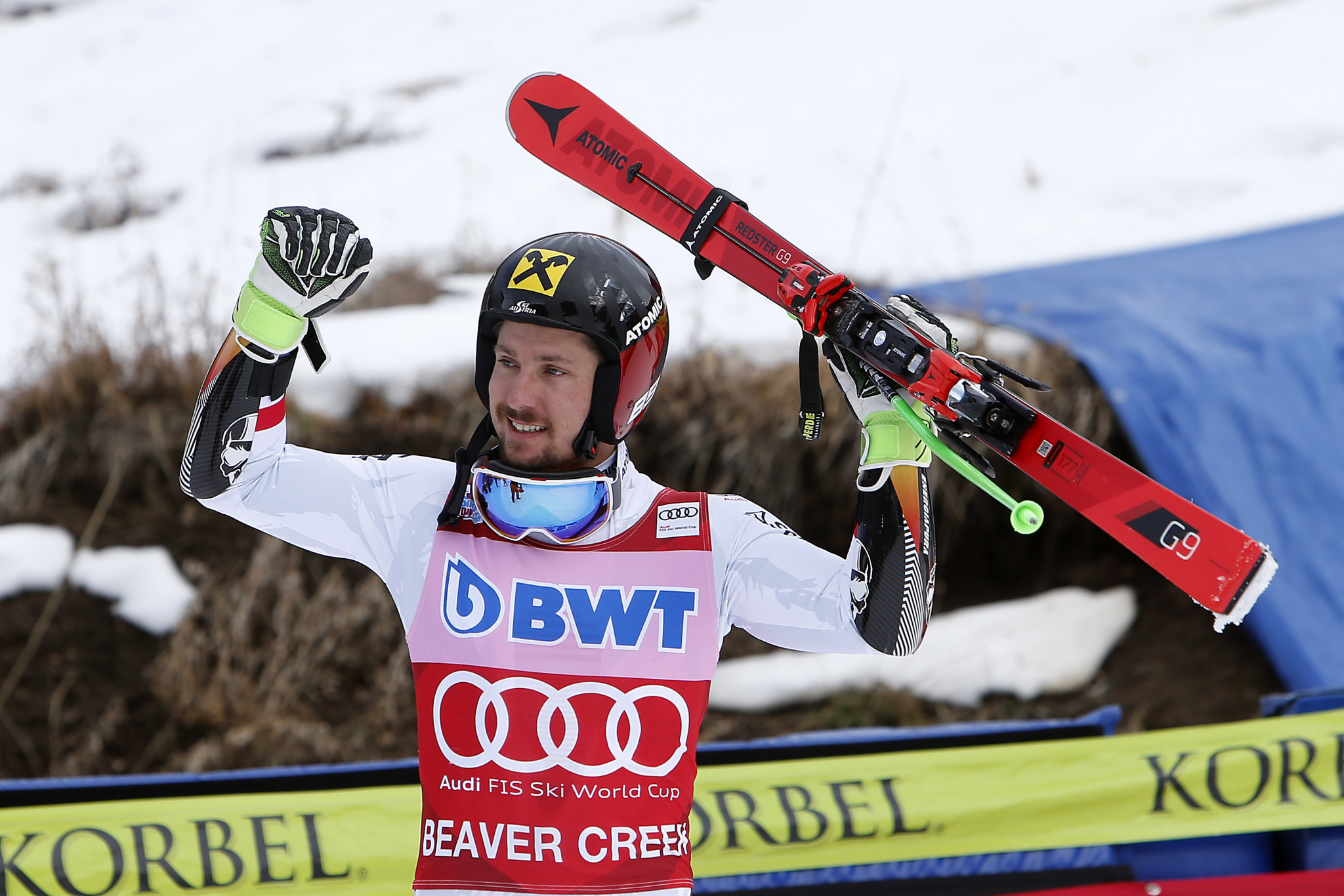 Hirscher wins men's giant slalom at FIS Alpine Skiing World Cup in Beaver Creek