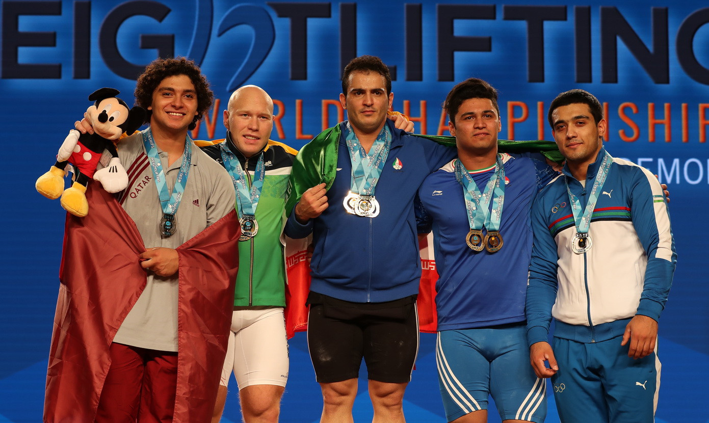 Olympic champion Moradi breaks two men's 94kg world records on golden day at 2017 IWF World Championships