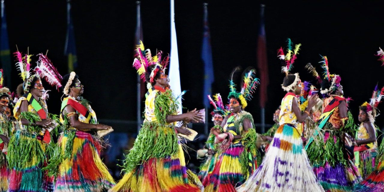 A series of cultural performances took place during the Opening Ceremony ©Vanuatu 2017