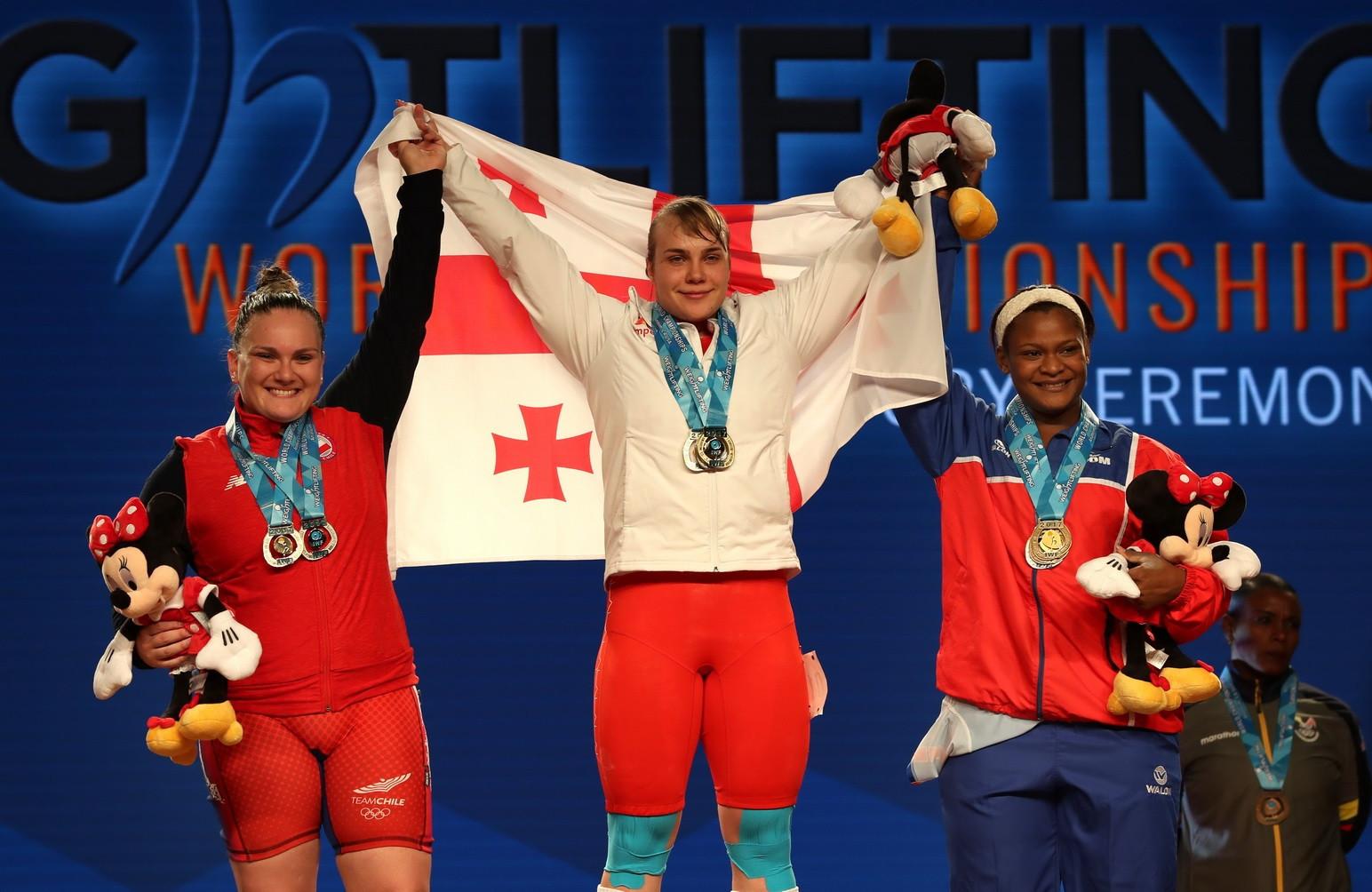 Hotfrid makes Georgian history with women's 90kg success at 2017 IWF World Championships