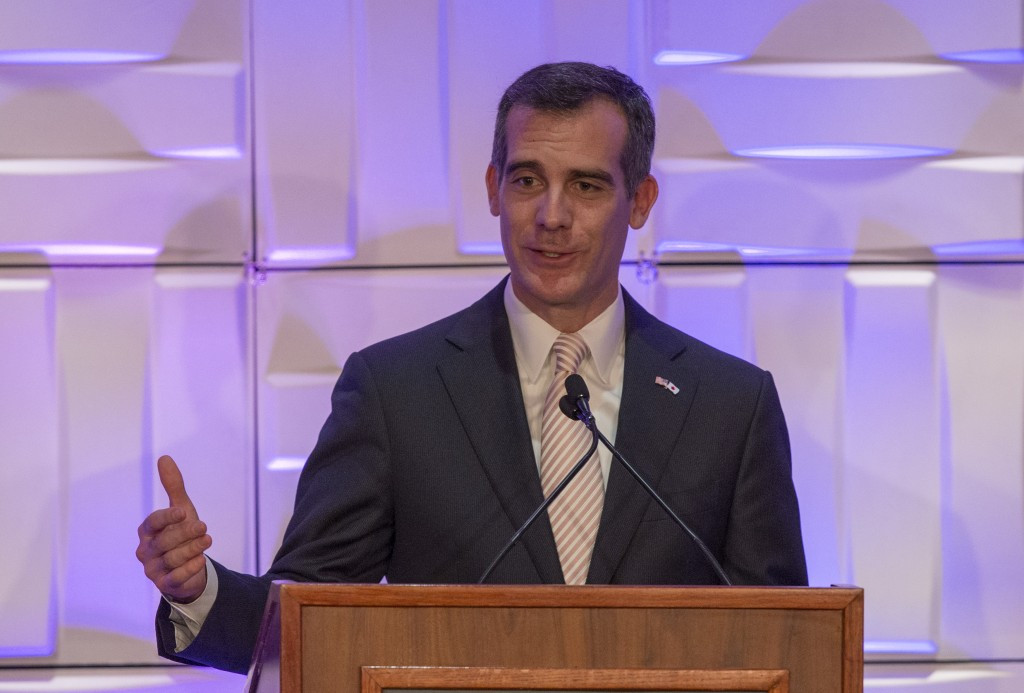 Los Angeles Mayor Eric Garcetti is expected to make the final decision on the Los Angeles bid ©Getty Images