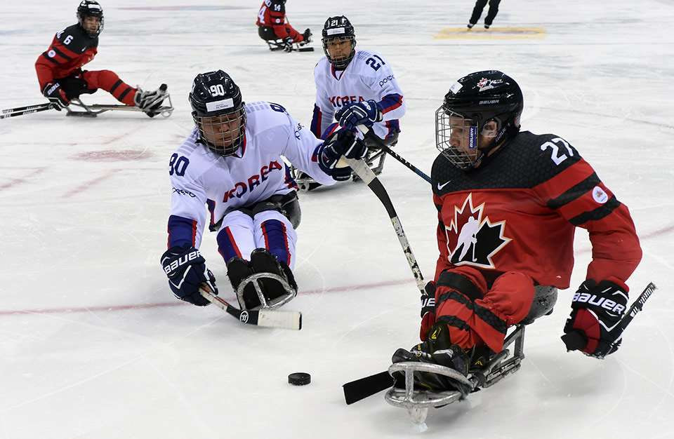 Paralympic silver medallists Canada also maintained their 100 per cent record as six goals in the second period helped them record a 9-3 win over South Korea ©Hockey Canada