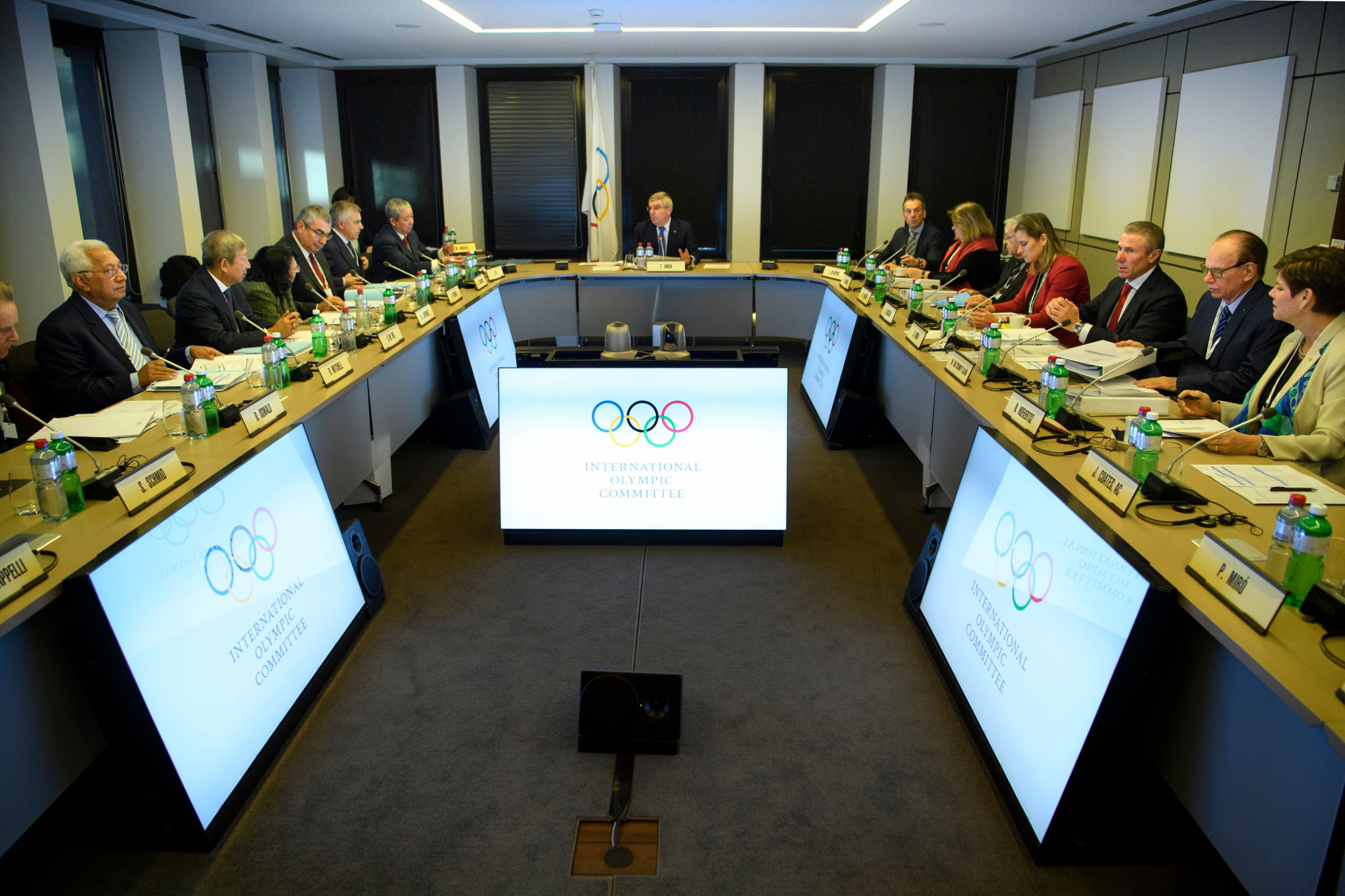 The IOC Executive Board pictured during their meeting today ©Getty Images