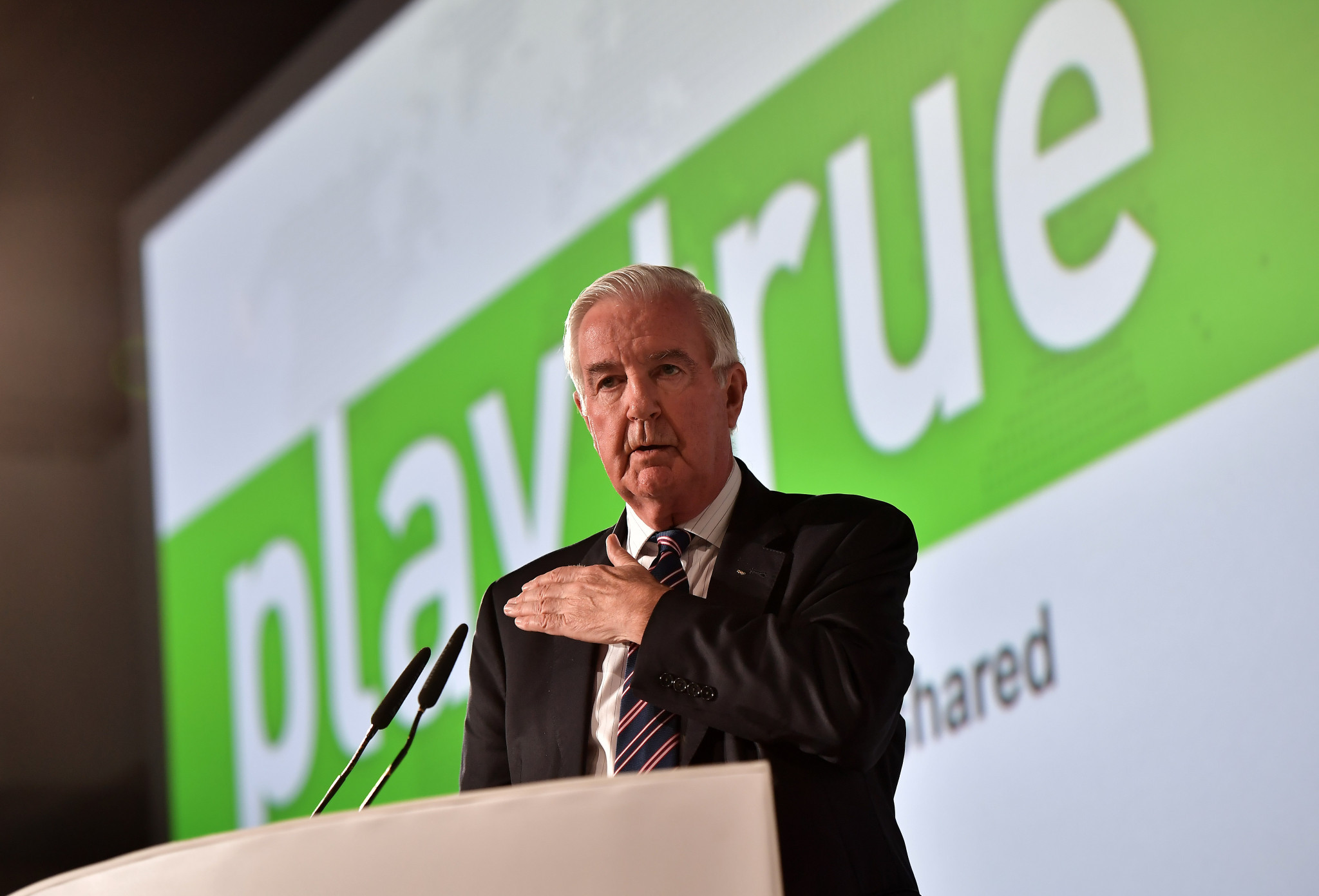 WADA President Sir Craig Reedie was twice publicly attacked by Olympic Movement officials for the way they had dealt with the doping crisis ©Getty Images