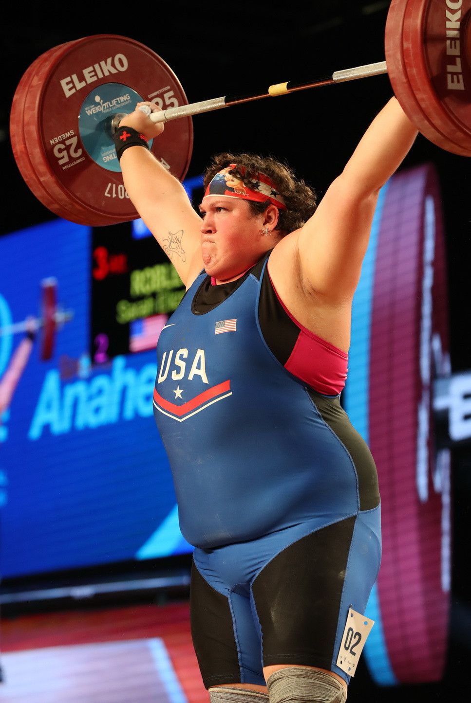 Robles registered an unrivalled total of 284kg in the women's over 90kg category on the final day of action at the 2017 International Weightlifting Federation World Championships in Anaheim ©IWF