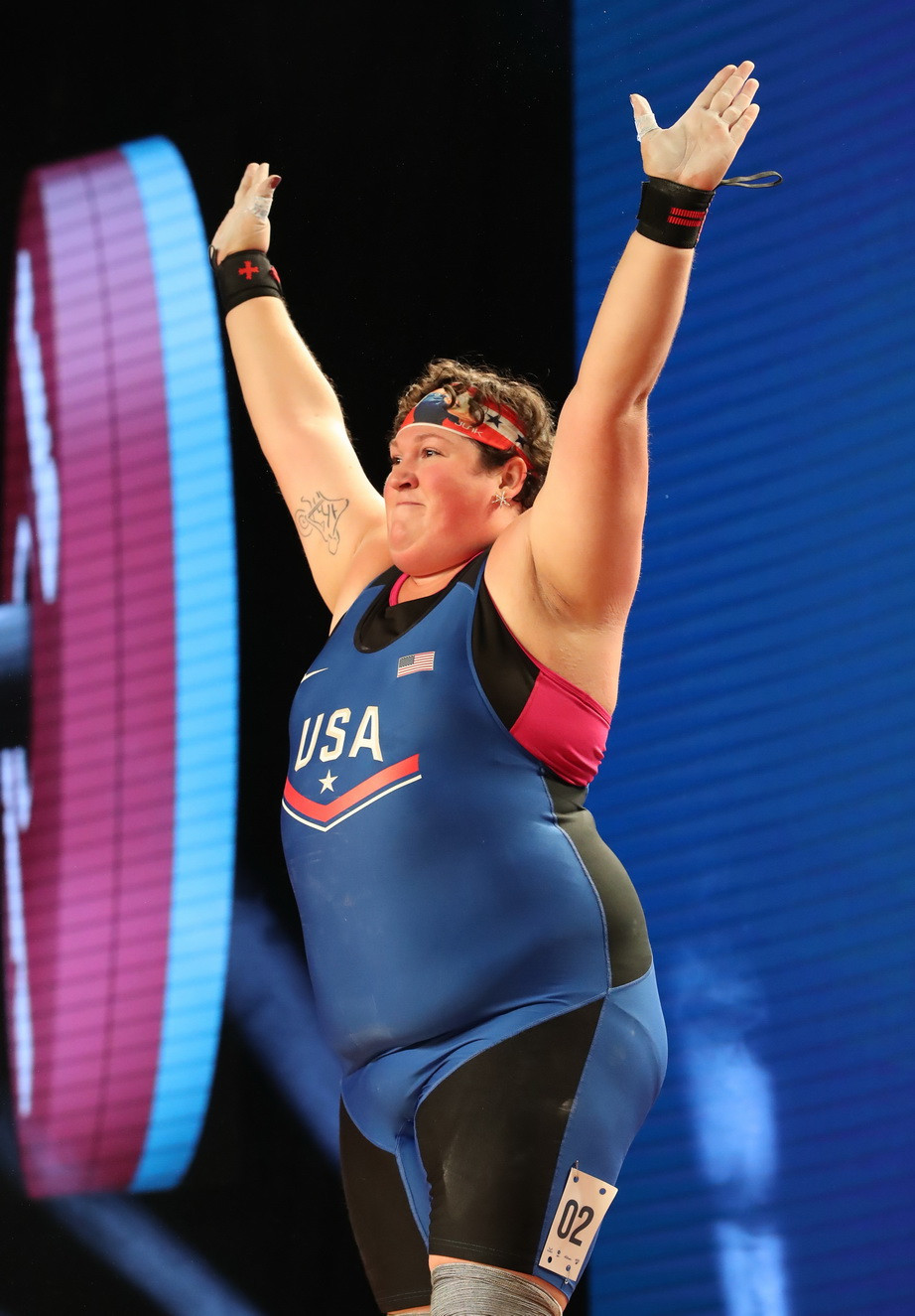 Sarah Robles today became the United States' first female weightlifting world champion in 23 years ©IWF