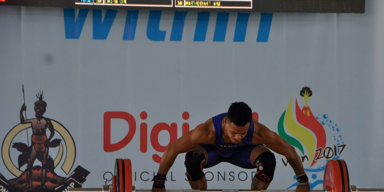 A number of medals were won in weightlifting today in Port Vila ©Vanuatu 2017