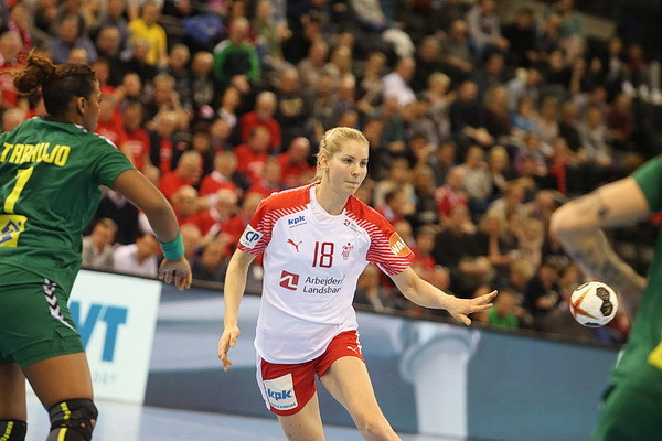 Denmark beat Brazil to reach round of 16 at Women's Handball World Championships