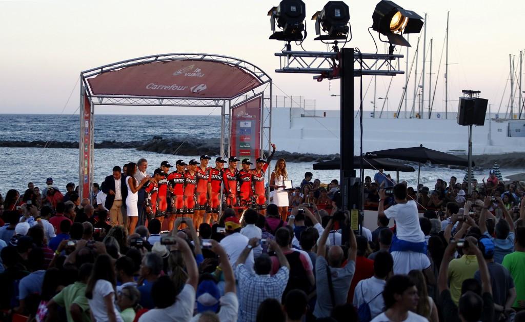 BMC Racing win team time trial as Vuelta a Espana opens in unorthadox fashion