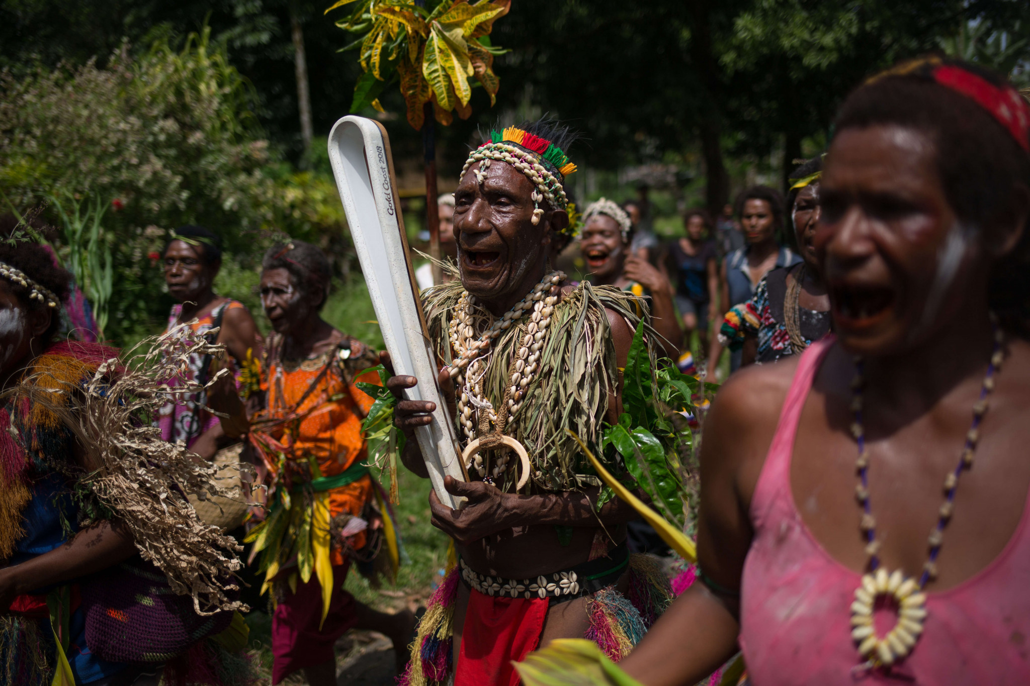 Chief Koi Malala of Tamare Village was among the Batonbearers in Papua New Guinea ©Gold Coast 2018