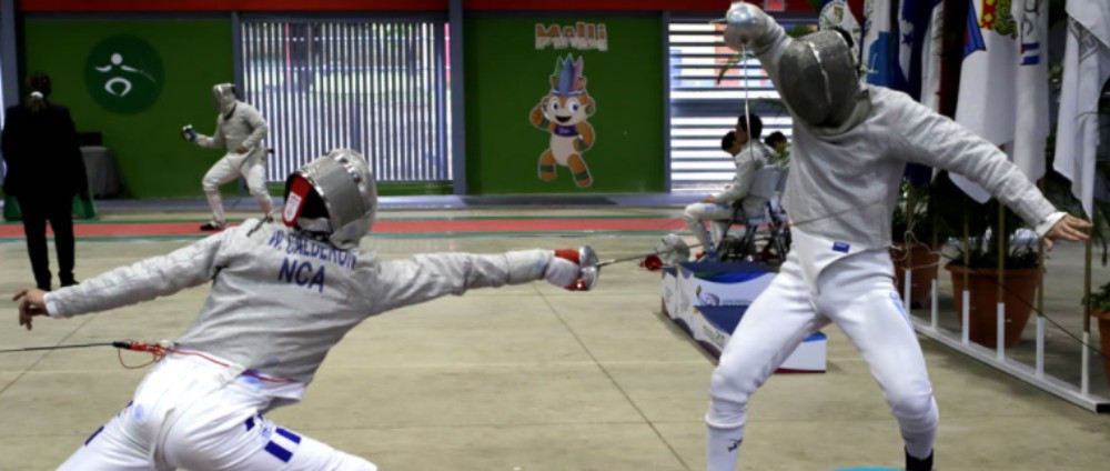 Fencing competition continued on the third full day of the Games ©Managua 2017