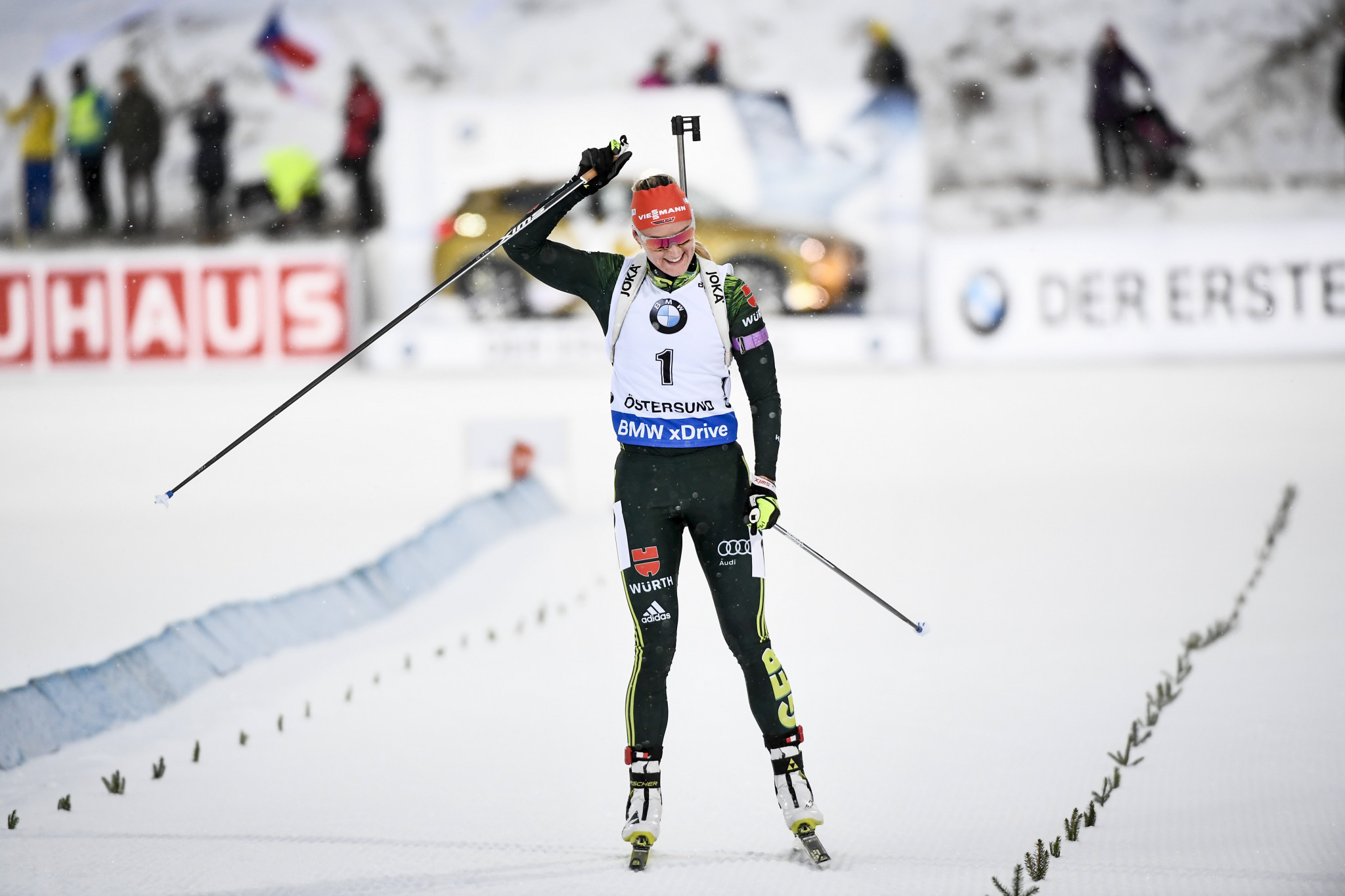 Olympic cross-country skiing bronze medallist Denise Herrmann of Germany will aim to secure a third straight victory following two wins in the season opener in Östersund ©Getty Imahes