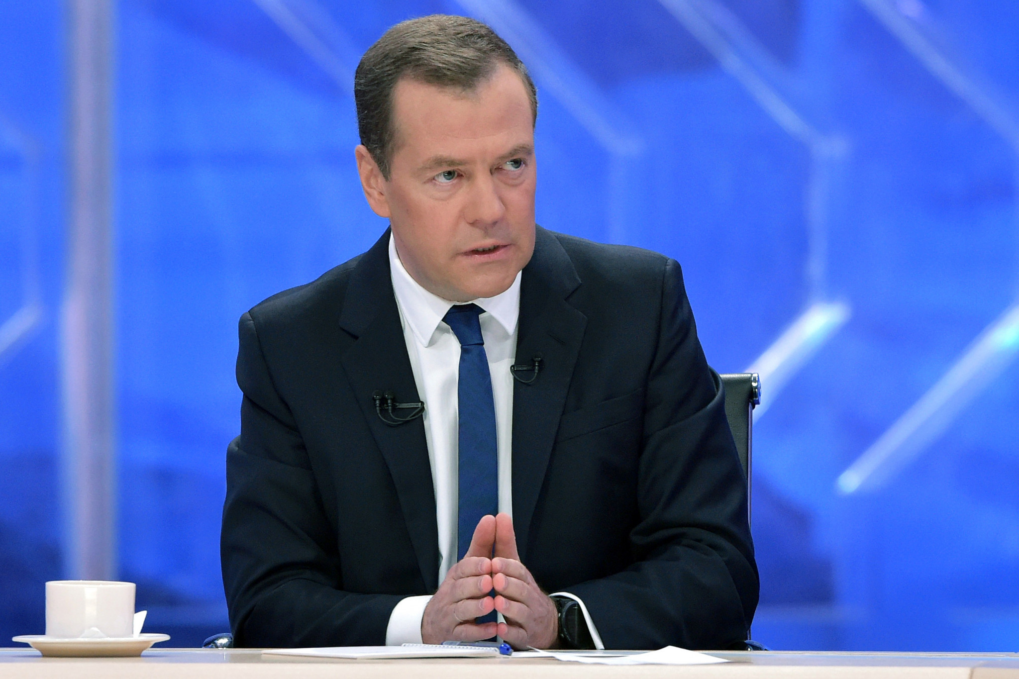 Russian Prime Minister Dmitry Medvedev has claimed they will never apologise for the doping regime ©Getty Images