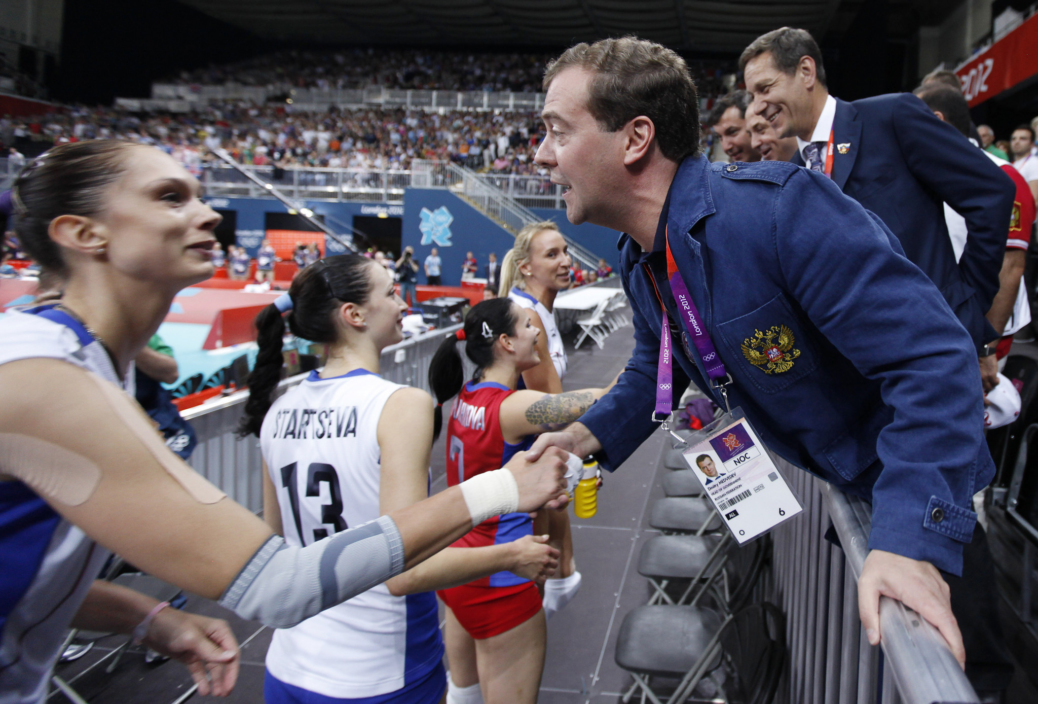 Dmitry Medvedev pictured attending the London 2012 Olympic Games, which took place when he was President of Russia ©Getty Images