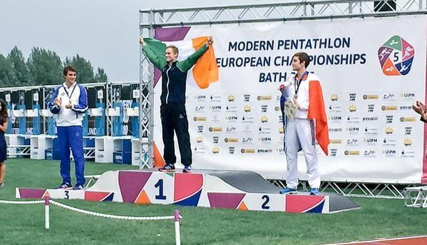Ireland's Arthur Lanigan-O'Keeffe earned the men's modern pentathlon European title ©Twitter