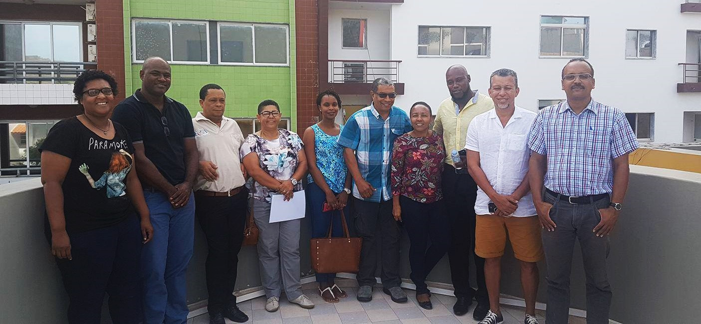 Filomena Fortes, fourth left, will lead the COC until 2021 ©COC