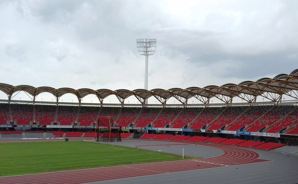 Progress at the Carrara Stadium, home of athletics and Ceremonies, has been notable ©ITG
