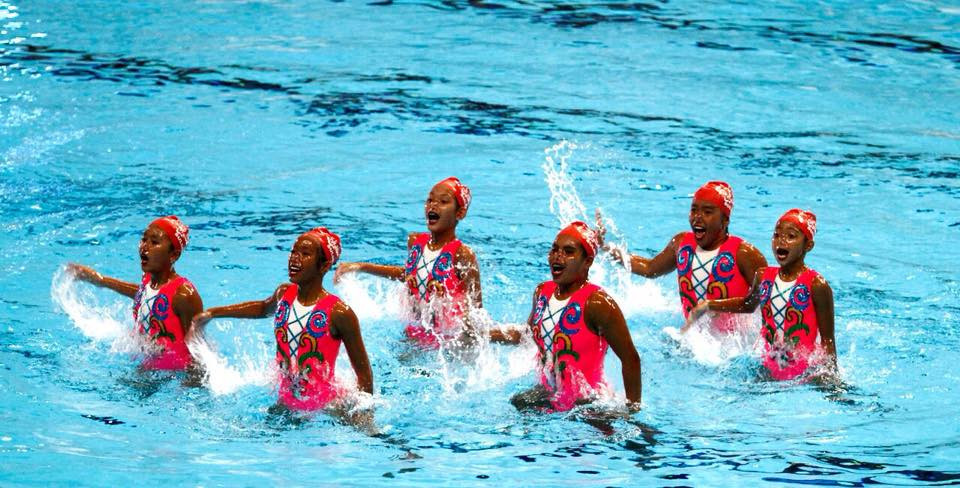Synchronised swimming will be among disciplines to feature in the new aquatics venue ©OCA