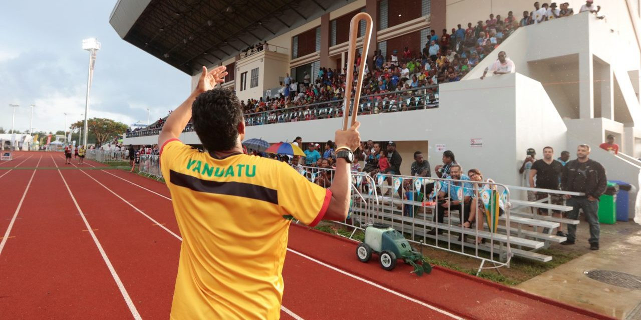 The Commonwealth Games Queen's Baton Relay arrived today during the Pacific Mini Games ©Pacific Mini Games
