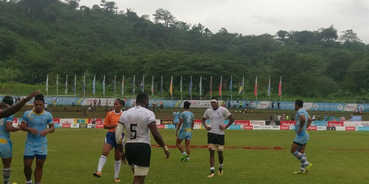 Rugby competition began today at the Korman Stadium ©Pacific Mini Games