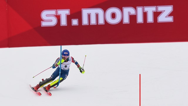 Shiffrin leads in St Moritz before FIS World Cup super combined is postponed due to fog
