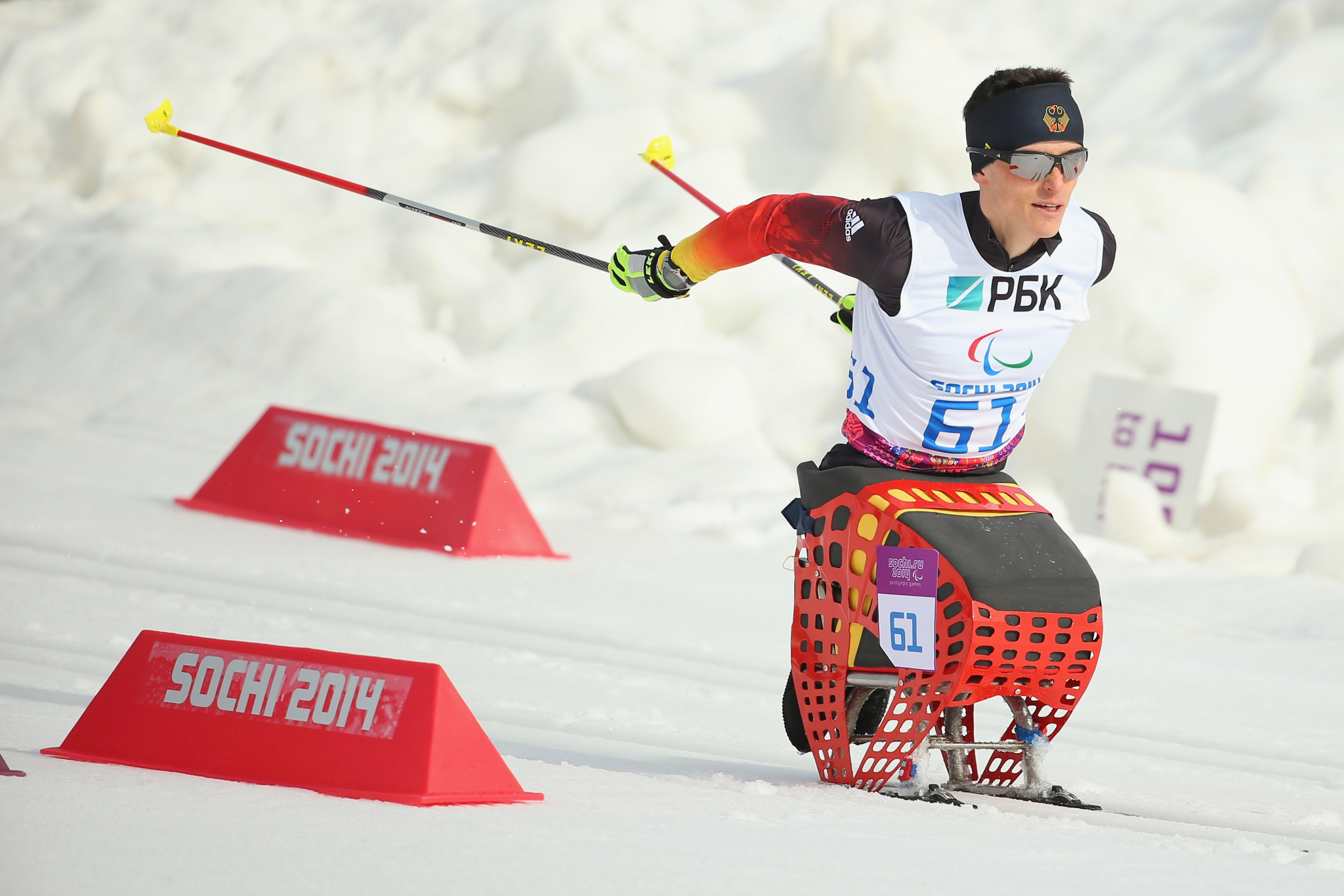 Germany's Martin Fleig is one of two world title holders taking part in the World Para Nordic Skiing World Cup ©Getty Images