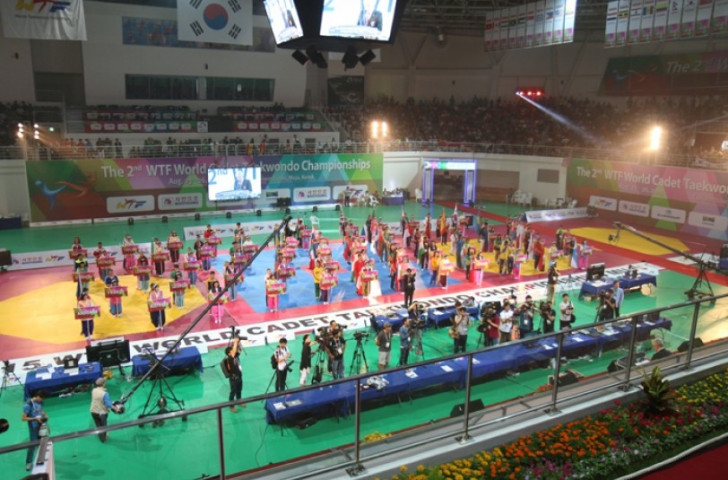 The T1 Arena in Muju County provides the setting for the second edition of the WTF World Cadet Taekwondo Championships