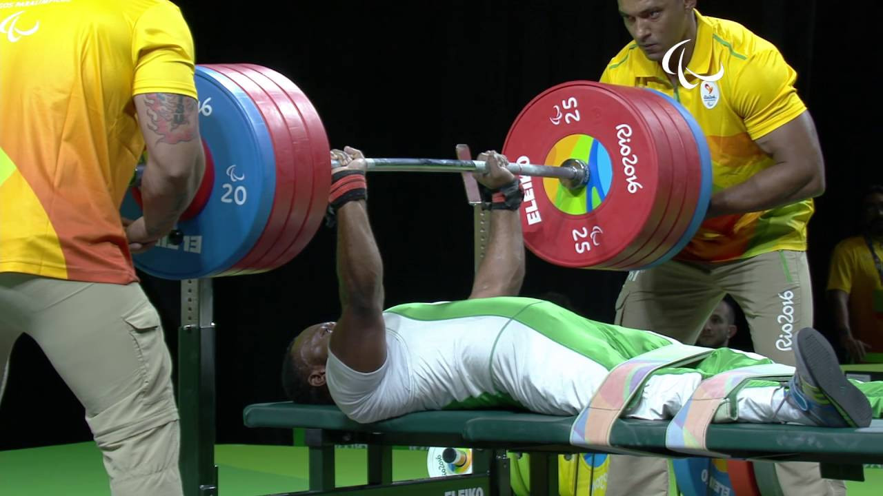 Nigeria's Paul Kehinde broke the world record to secure the men's up to 65 kilograms title ©YouTube