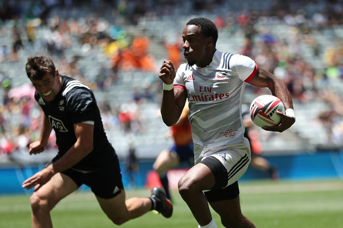 The United States are among three countries unbeaten after the pool stage of the World Rugby Sevens Series in Cape Town ©Getty Images