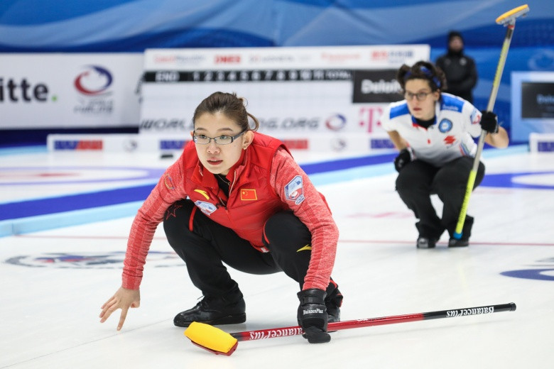 China booked their place in the women's curling tournament at the 2018 Winter Olympic Games ©WCF