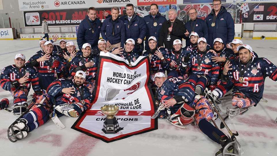 The United States earned their fourth consecutive World Sledge Hockey Challenge title ©Hockey Canada