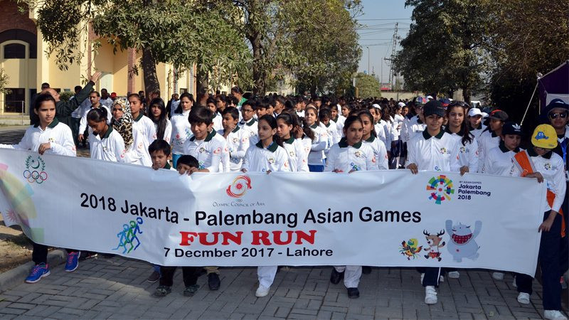 A fun run has been staged by the Pakistan Olympic Association and the OCA to promote the Asian Games ©POA