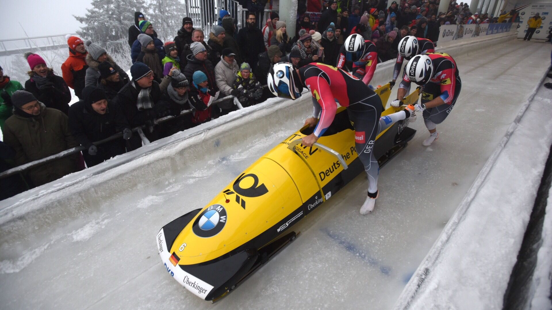 Germans dominate IBSF World Cup four-man bobsleigh with top three places in Winterberg