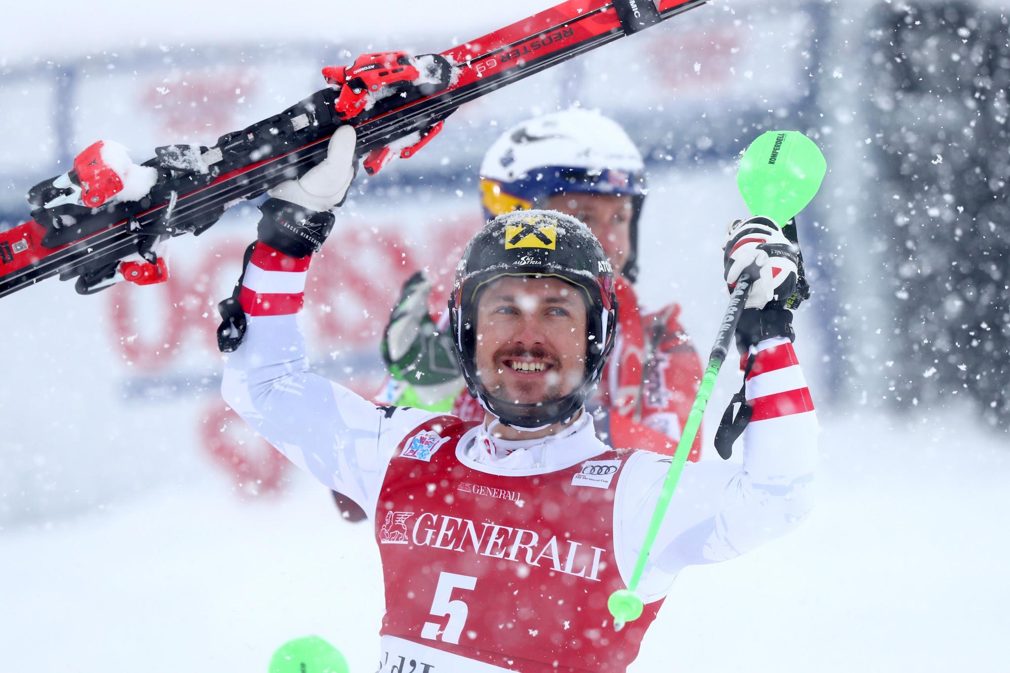 Austrian Hirscher wins FIS Alpine Ski World Cup Men's Slalom in Val-d'Isere