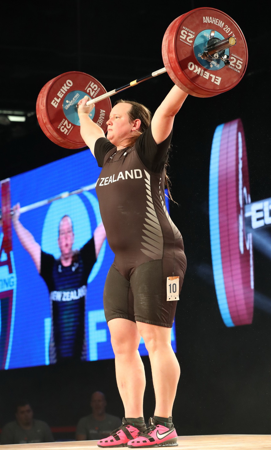 Laurel Hubbard won a silver medal at the IWF World Championships in Anaheim ©IWF