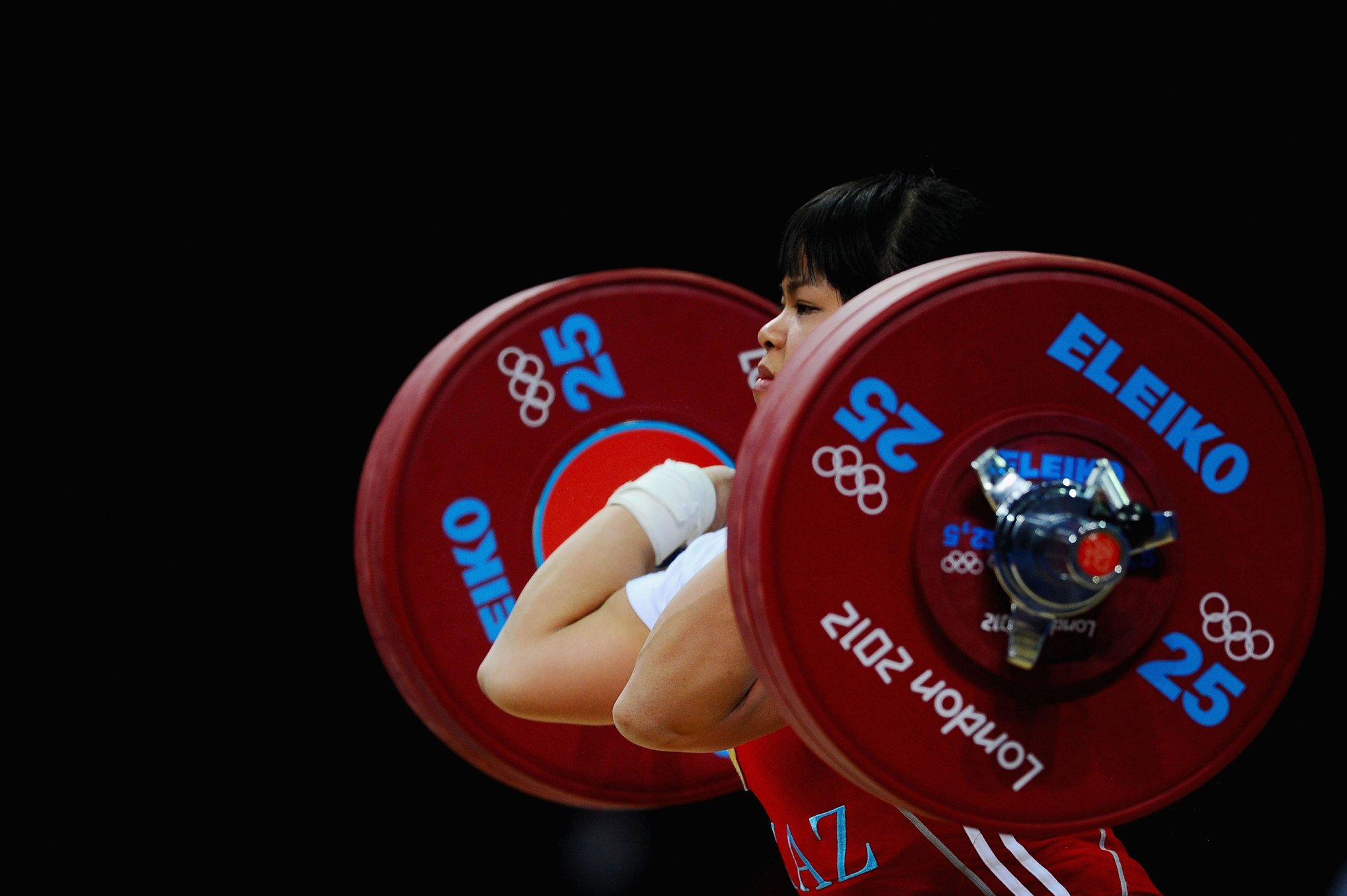 Kazakhstan's Zulfiya Chinshanlo is among several weightlifters stripped of medals after retests after London 2012 ©Getty Images