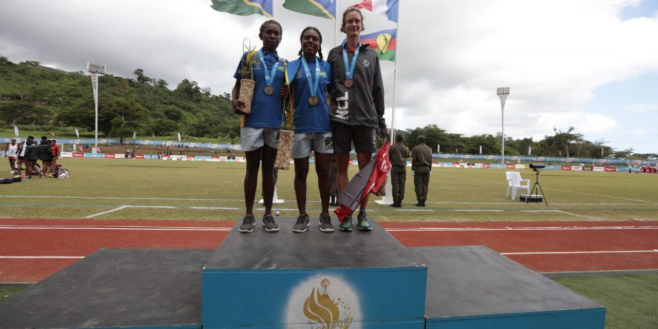Solomon Islands claimed a one-two in the women's 10,000m ©Vanuatu 2017
