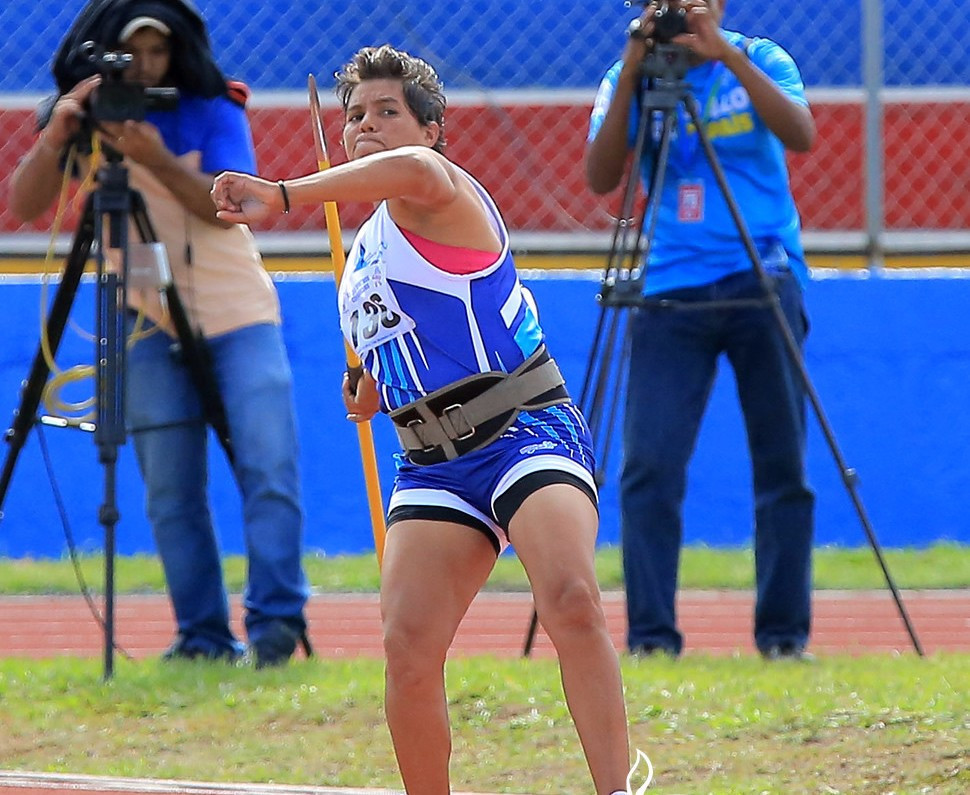 Olivia Dalila Rugama Carmona of Nicaragua broke the Central American Games record to secure the women's javelin gold medal ©Managua 2017