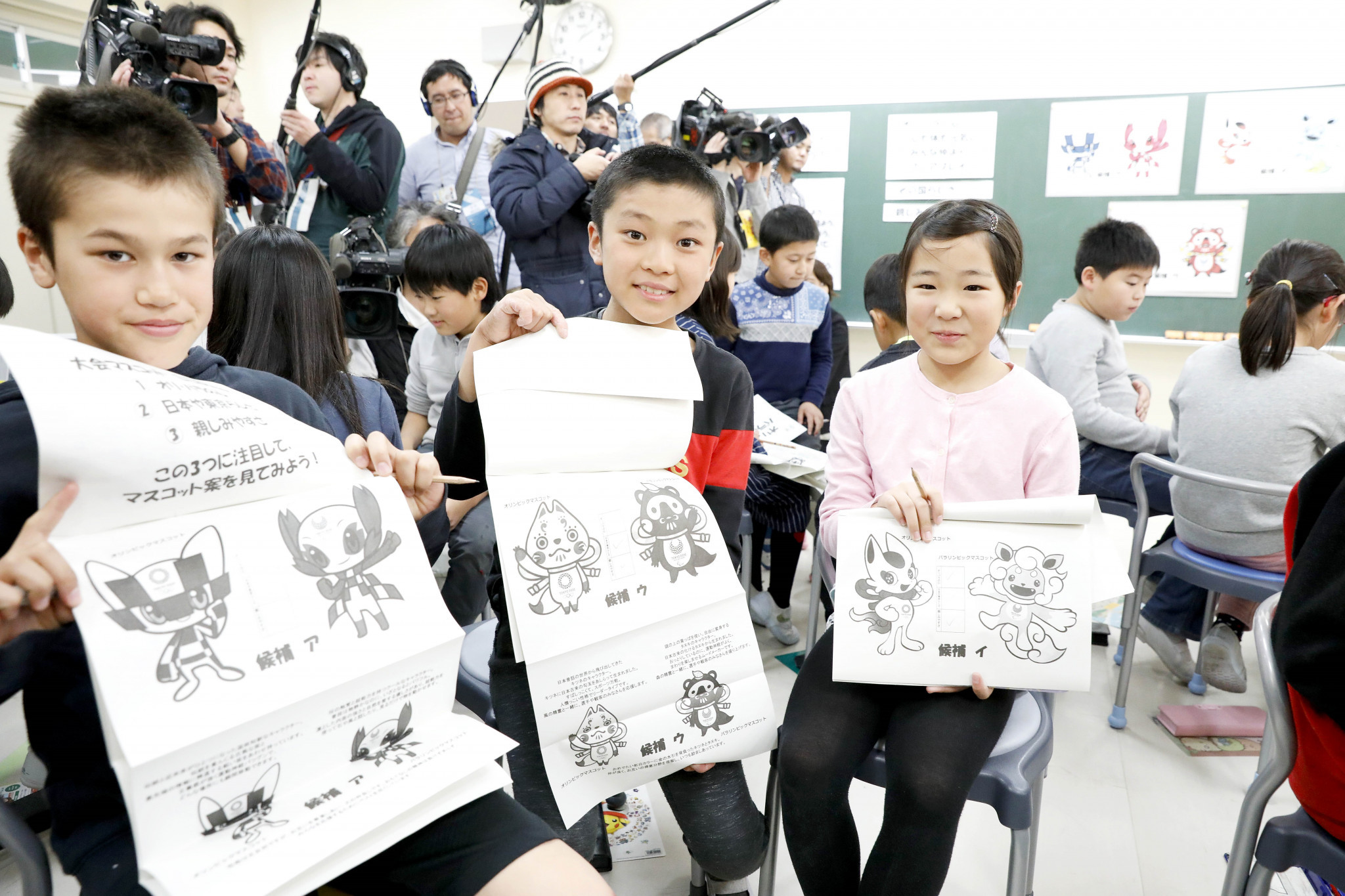 Children have begun voting for their preferred Tokyo 2020 mascots in schools across Japan ©Tokyo 2020