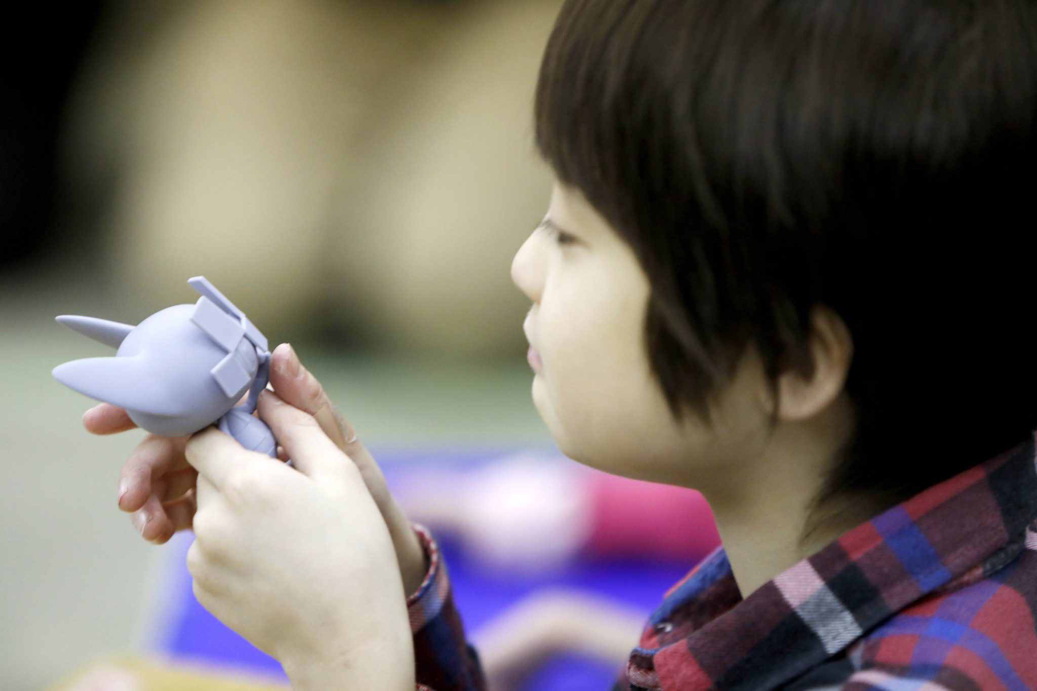 Models have been created to allow children with visual impairment to become part of the voting process ©Tokyo 2020