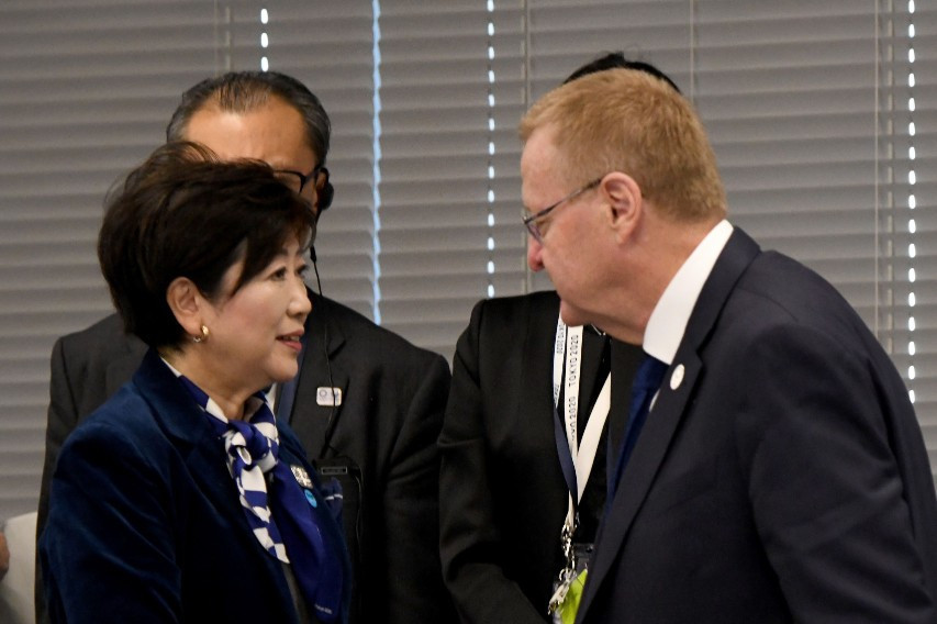 Tokyo Governor Yuriko Koike was present for the opening remarks ©Getty Images