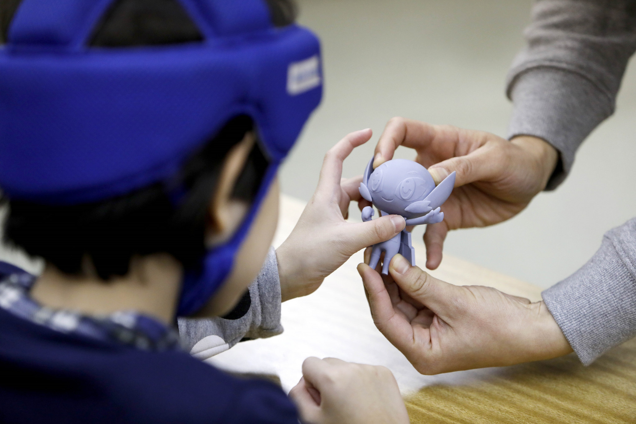 Organisers have created models to help children with impairments be part of the process ©Tokyo 2020