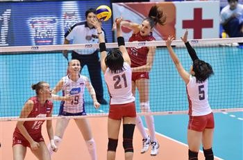 Russia squeezed past hosts Japan on the second day of action at the FIVB Women's World Cup ©FIVB