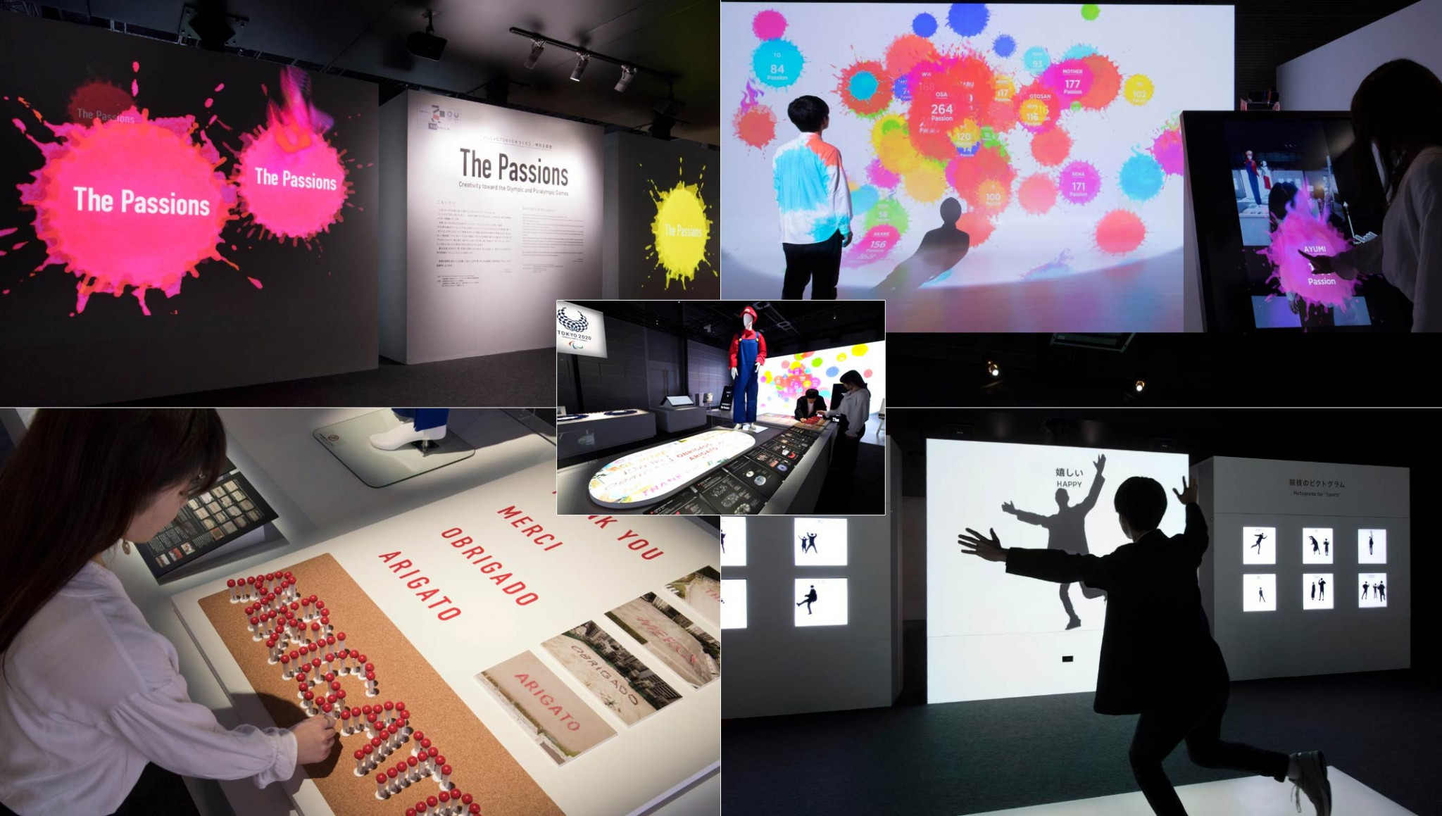 Panasonic stage exhibition in Tokyo highlighting work of designers at Olympic Games