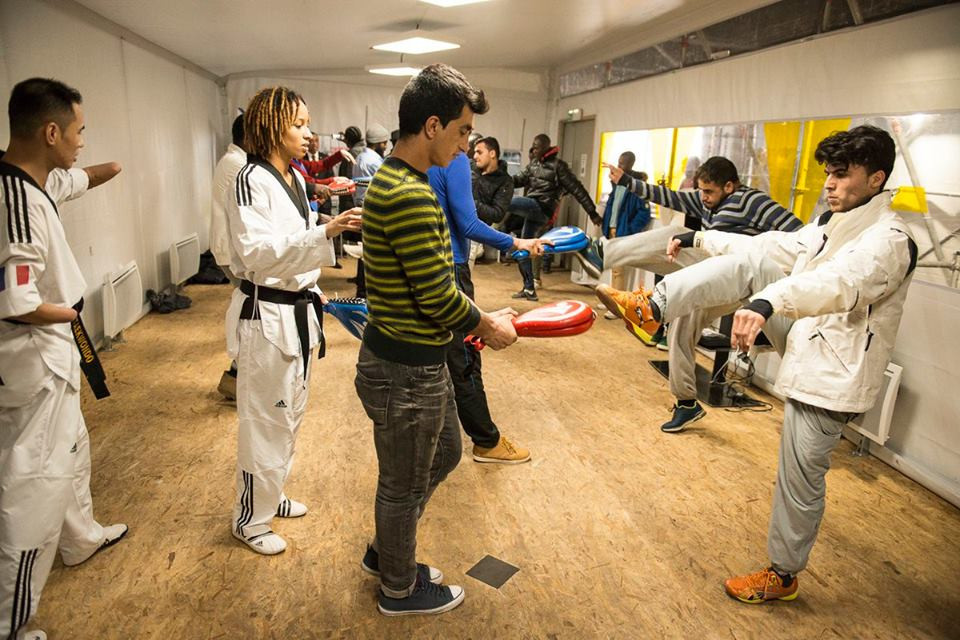 The sessions take place at the asylum seekers' activity centre of Boulevard Ney ©Paris City Hall